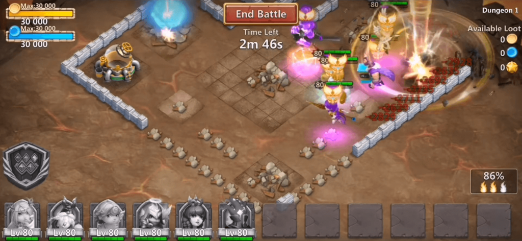 castle clash guild royale gameplay