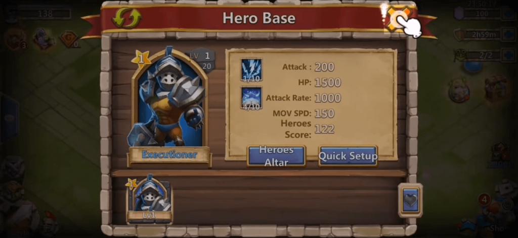 castle clash guild royale menu interface